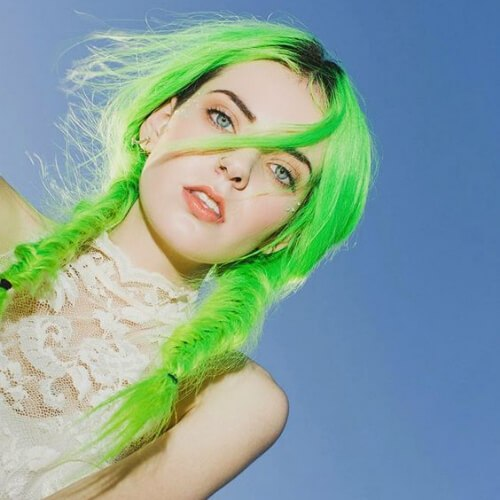 acid-green-cool-hairstyles-for-girls