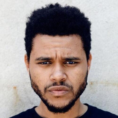 Informal The Weeknd del Pelo para los Hombres Negro