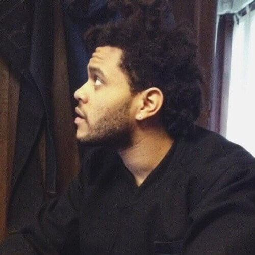 El Weeknd Cabello con Medio Afro