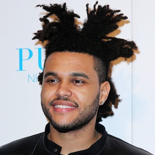 The-Weeknd-Hair-with-Sectioned-Styling