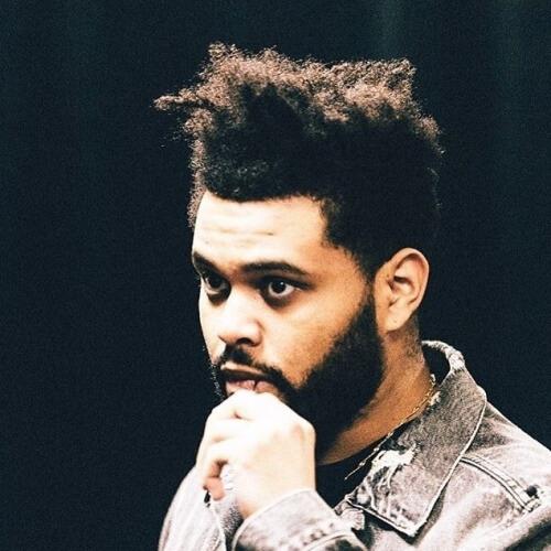 Revuelto de La Weeknd Cabello con Desaliñada Barba