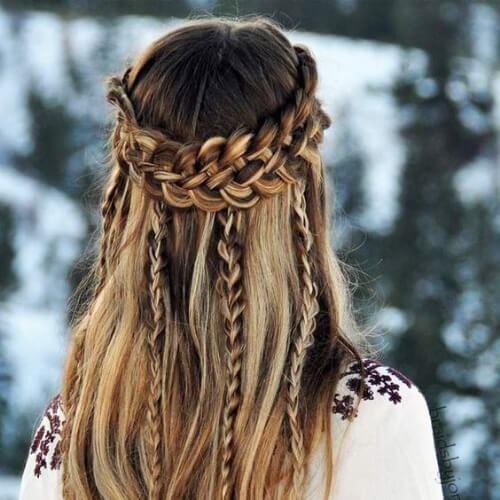 bohemio de la trenza peinados para el pelo largo