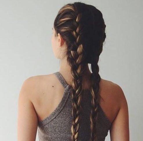 casual trenza peinados para el pelo largo