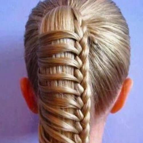 creativo de la trenza peinados para el pelo largo