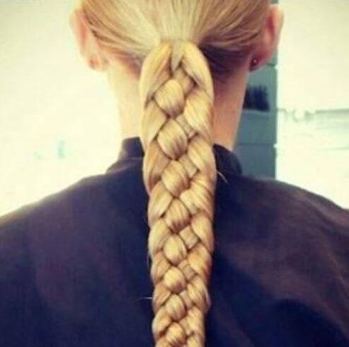 cuatro filamentos cortes de pelo rubio