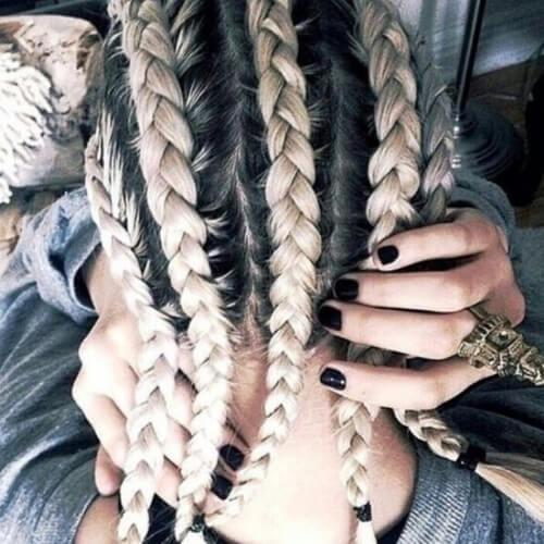 large-cornrows-bonde-hairstyles