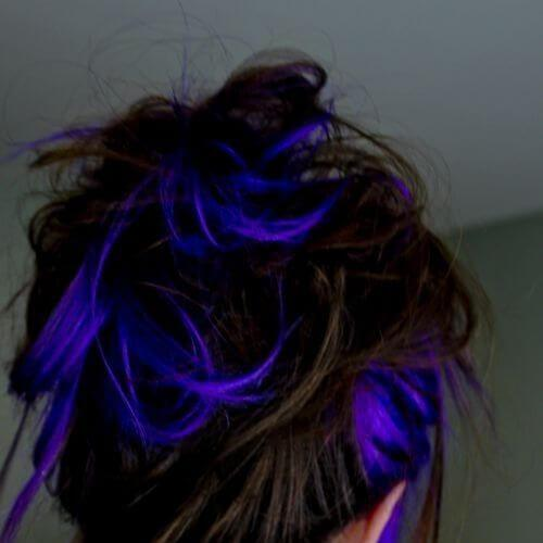 azul metálico de alta iluminaciones y sombras