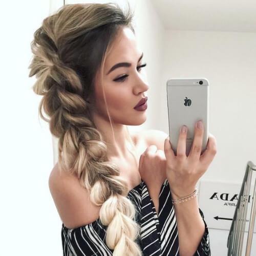 ombre dutch braid peinados para el pelo largo