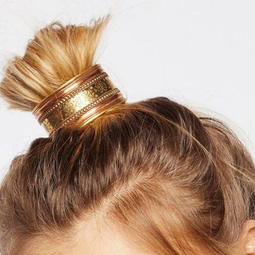 samurai bun fresco peinados para niñas