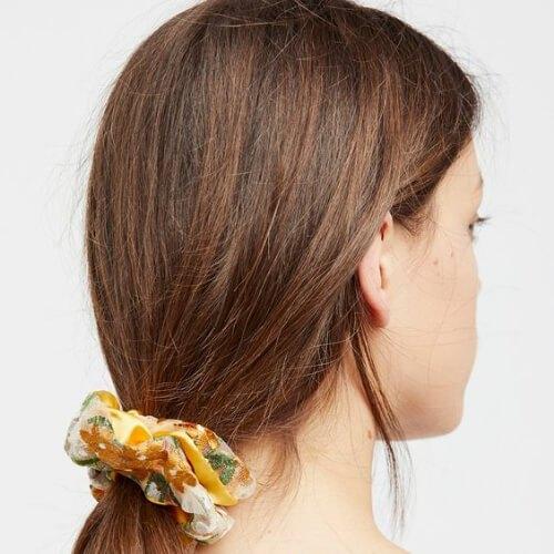 scrunchie fresco peinados para niñas