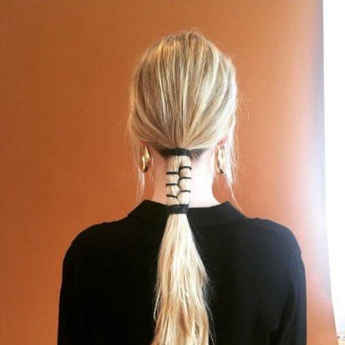 seccionado de la trenza rubia peinados