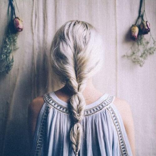 suelta cola de pescado fresco peinados para niñas