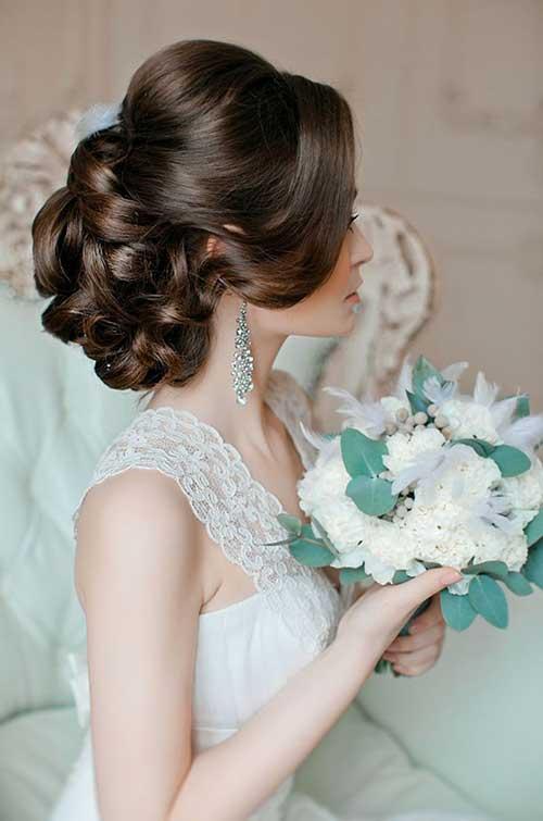 Imágenes románticas de peinados de boda