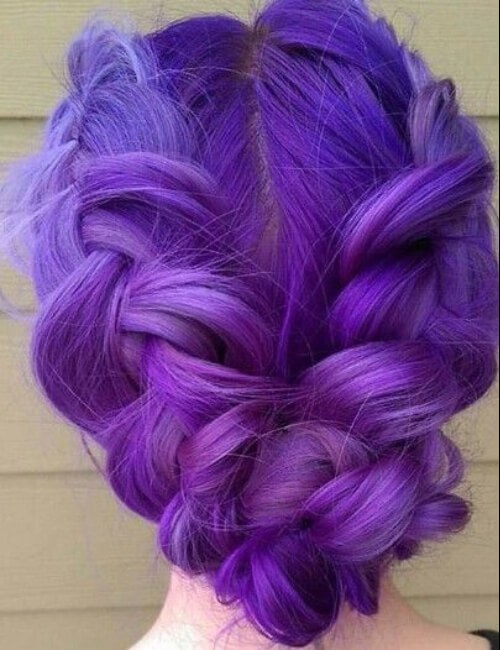 tonos violetas de cabello púrpura