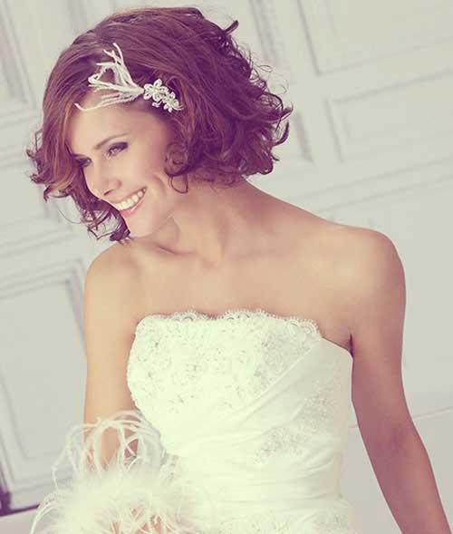 Lindo cabello de la boda para el pelo corto