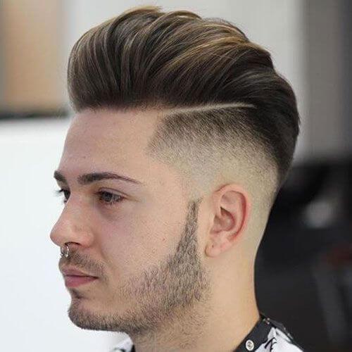 Corte de pelo de la parte dura de Pompadour