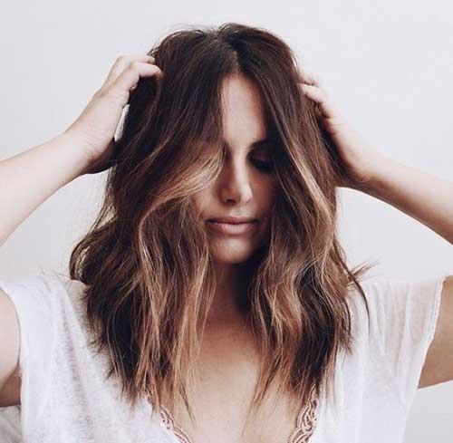 Largos peinados ondulados