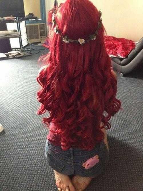 Lindos y largos peinados rizados-20