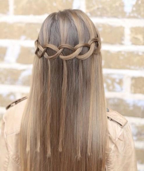 Loop Waterfall Trenzas peinados de niña
