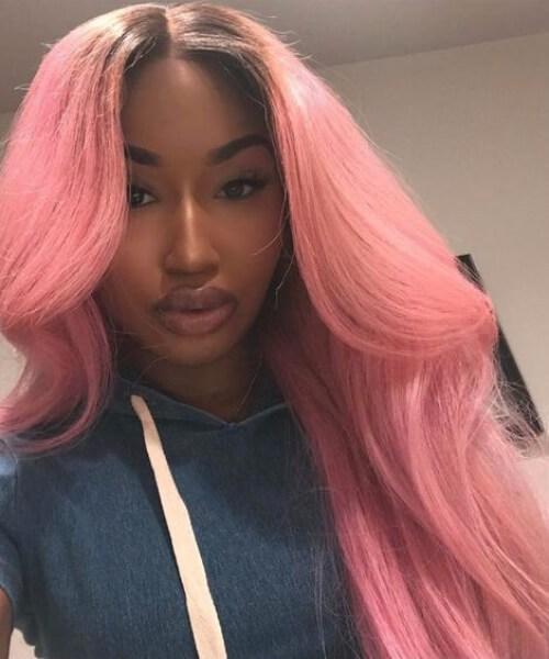 peinados de goma rosa chicle