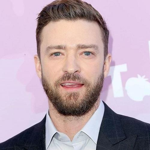 Justin Timberlake peinados con barbas gruesas
