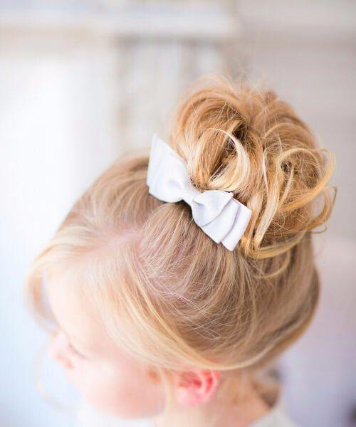 inspiración de la boda peinados de niña