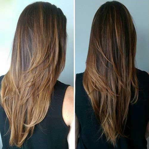 Capas cabello largo