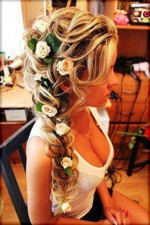 Peinado largo para la boda
