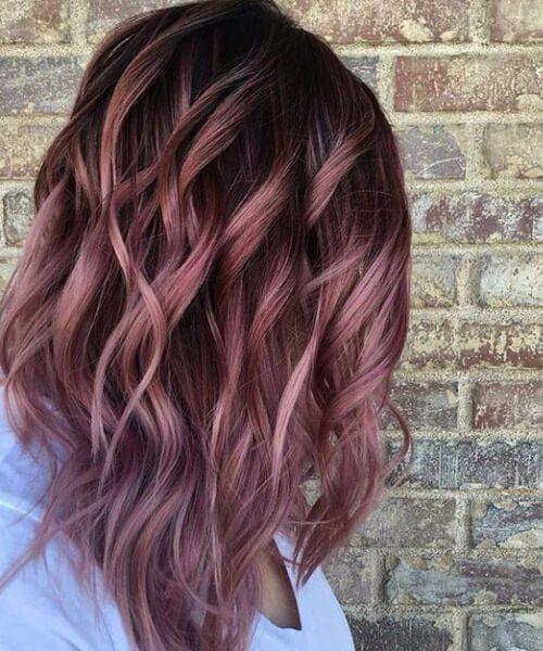 Fall Rose Melt caen los colores del cabello