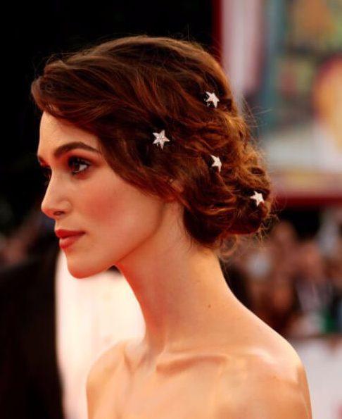 estrellas peinados de boda para el pelo largo