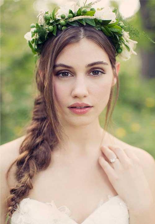 Peinados de novia con un lado trenzado