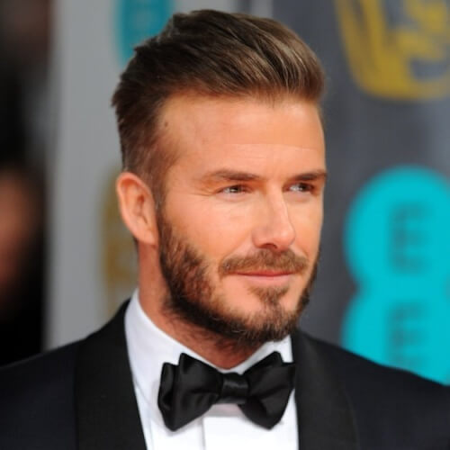 Cepillado atrás David Beckham peinados