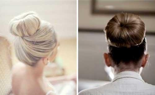 Las mejores ideas para el cabello para la boda con un buen bollo