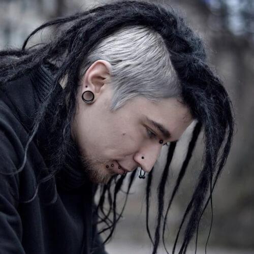 Peinados punk para chicos con rastas