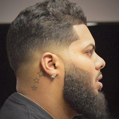 Gran barba y cónica Fade corte de pelo