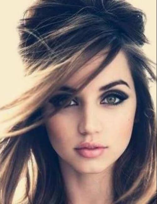 retro cabello oscuro ojo updos para cabello largo