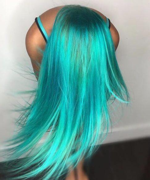 color de pelo brillante del trullo de la sirena