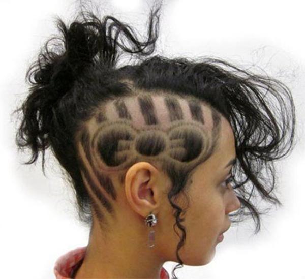 31020216-lado afeitado-estilo de pelo