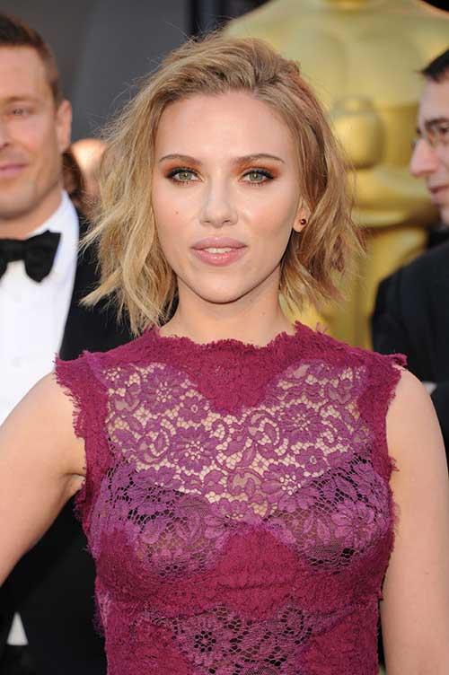 Scarlett Johansson Peinados de baile simples