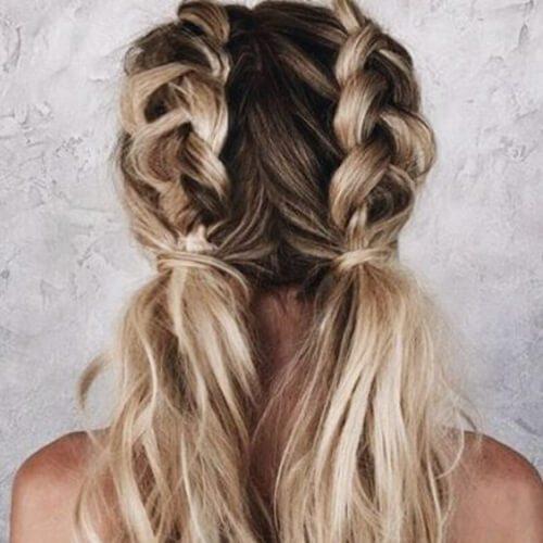 Trenzas trenzadas trenzas peinados para cabello largo