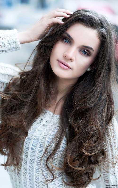 Peinados largos marrones oscuros-27