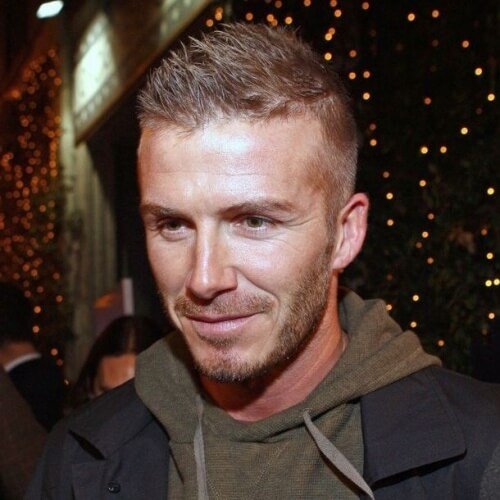Cabello corto David Beckham