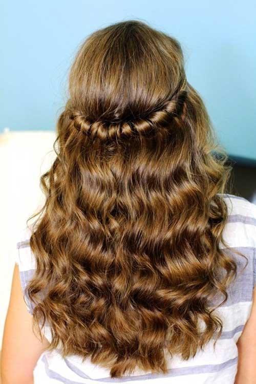 El mejor peinado retro para cabello largo