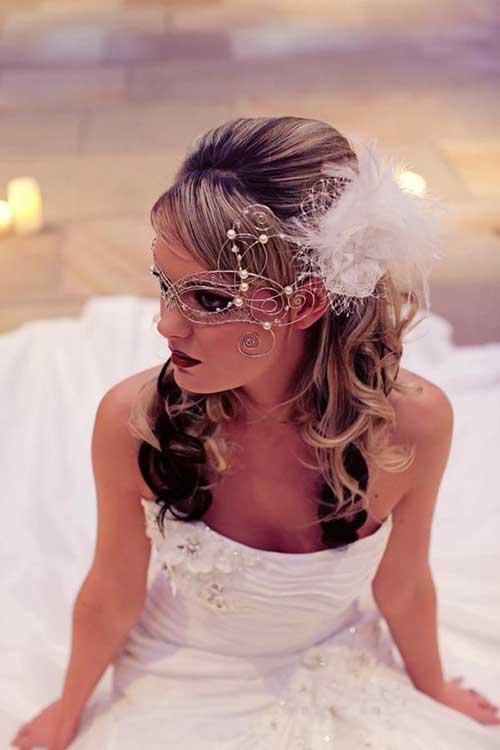 Mejores ideas elegantes del accesorio del pelo de la boda de la pluma