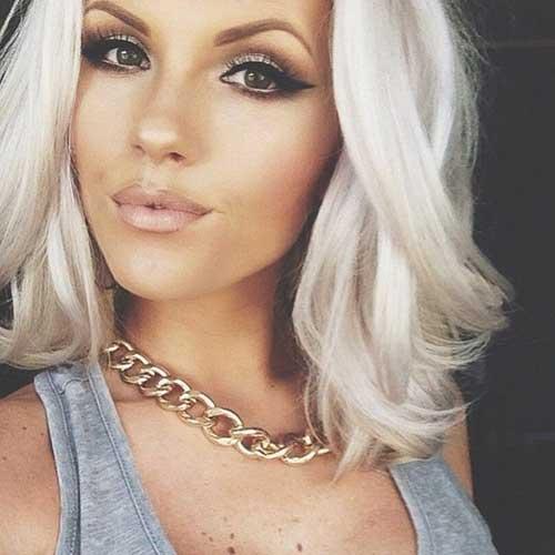 Peinados grises rubios para cabello largo mediano