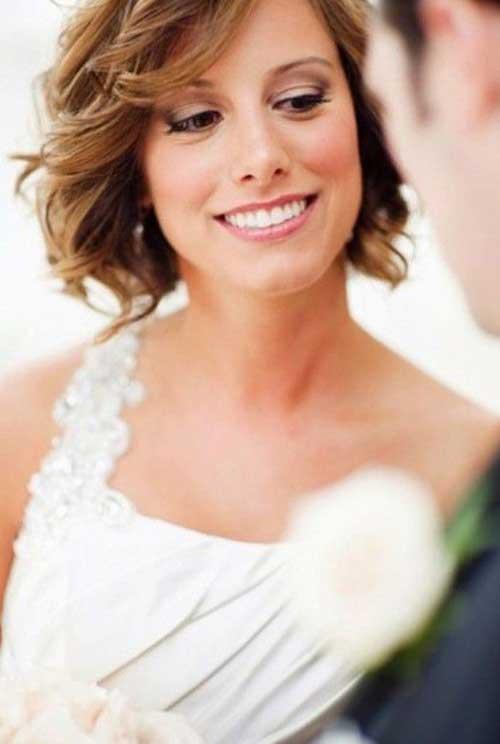 Inspiración linda de la boda del pelo corto