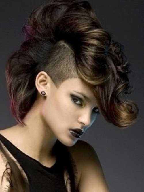 Peinados punk para cabello rizado-13