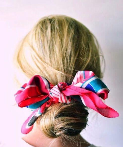 peinados de pelo de la bufanda para el cabello fino