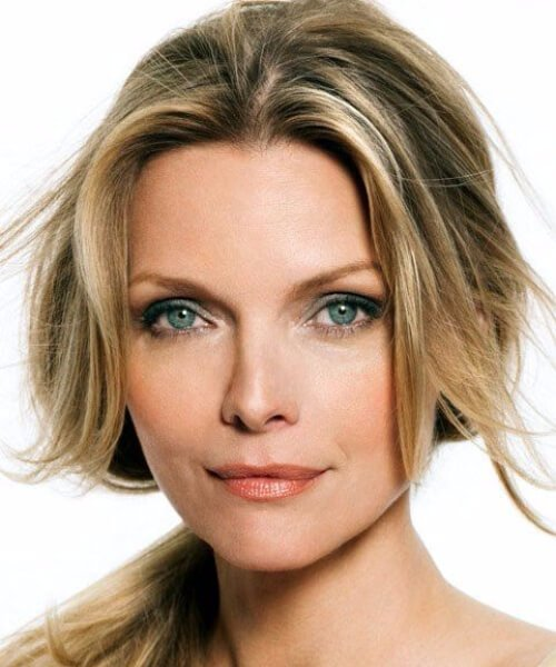 michelle pfeiffer hairstyles para mujeres mayores de 40 años
