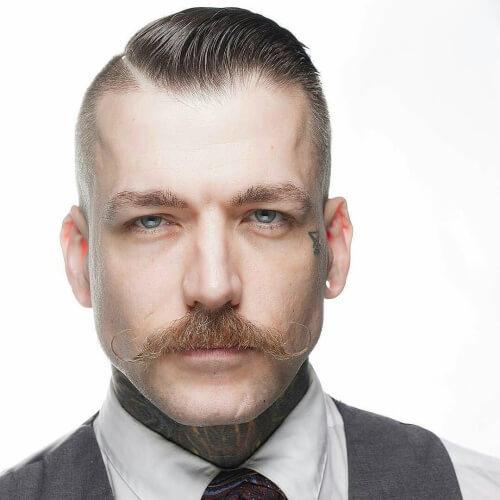 Cosecha vintage con bigote
